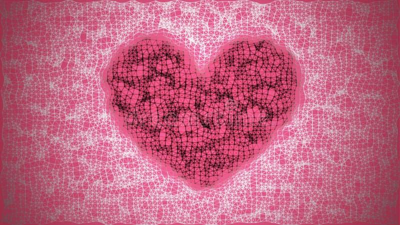 Fond de jour du ` s de Valentine illustration stock
