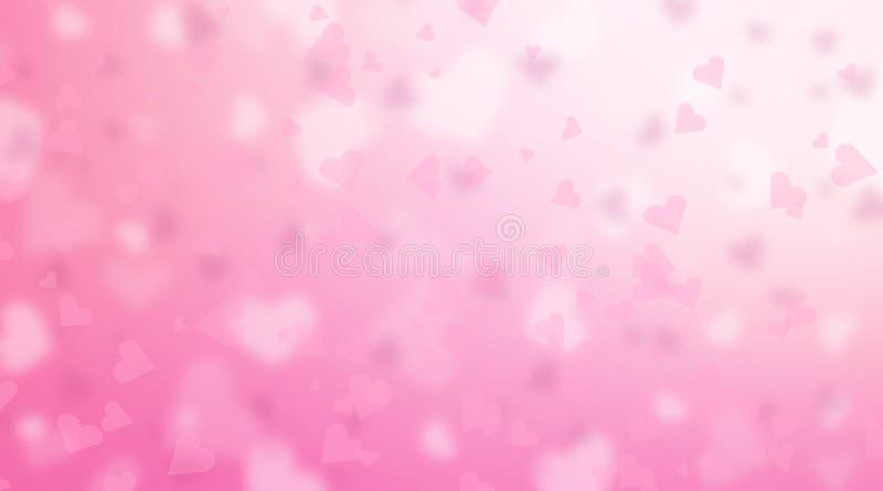 Fond de jour du ` s de Valentine Contexte rose abstrait de coeurs illustration libre de droits