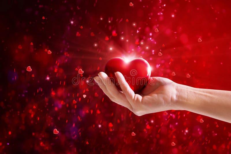 Fond de jour du ` s de Valentine Main des coeurs colorés pour des valentines photographie stock