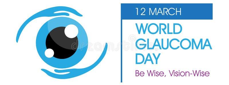 Fond de jour de glaucome du monde illustration libre de droits