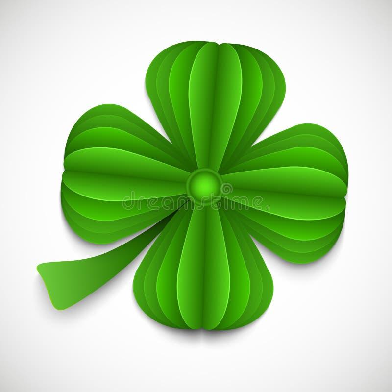 Fond de jour de St Patricks avec le tr?fle illustration libre de droits