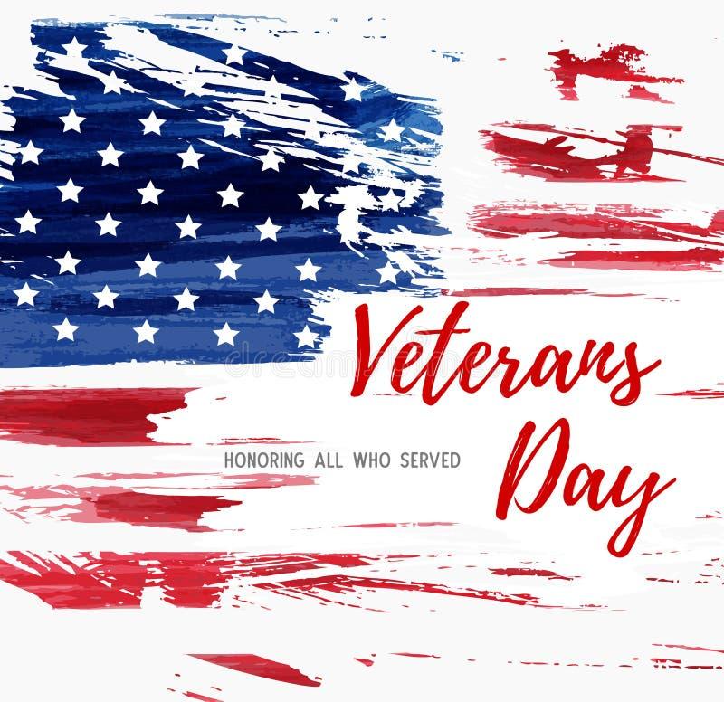 Fond de jour de vétérans des Etats-Unis illustration libre de droits