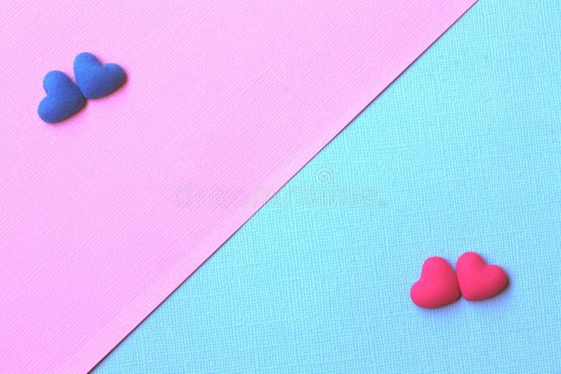 Fond de jour de valentines, bleu bissecté et rose image libre de droits