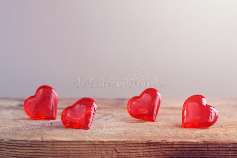 Fond de jour de valentines, coeur transparent doux photos libres de droits