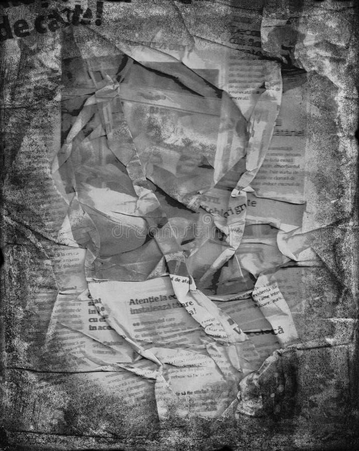 Fond de journal plissé par grunge photos libres de droits