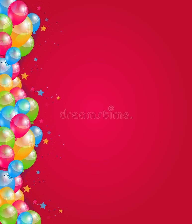 Fond de joyeux anniversaire illustration stock