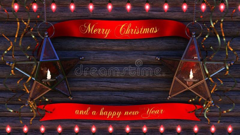 Fond de Joyeux Noël image stock