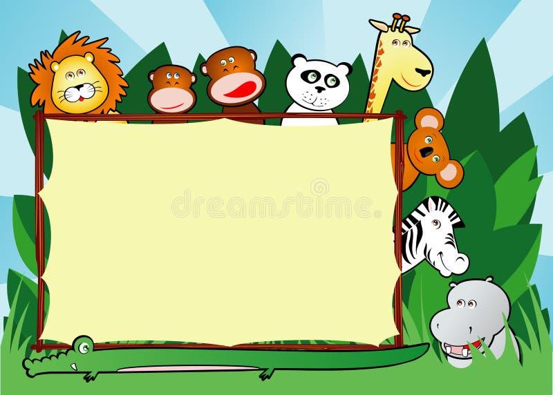 Fond de jungle illustration stock
