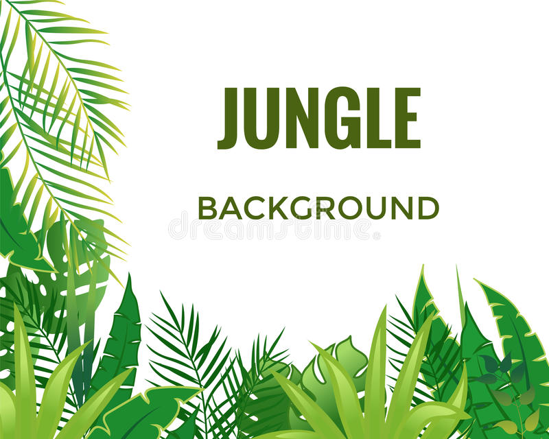 Fond de jungle illustration libre de droits