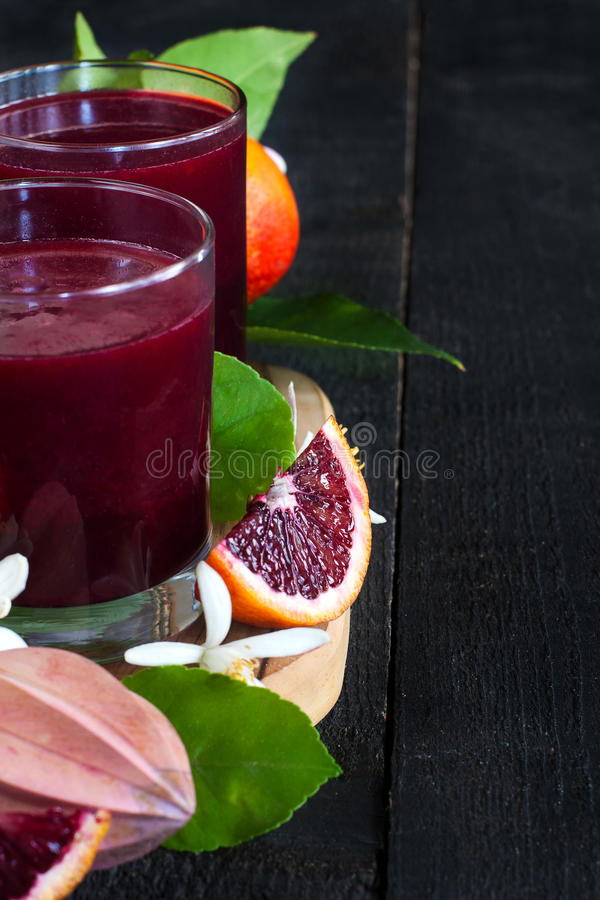 Fond de jus d'orange sanguine image stock
