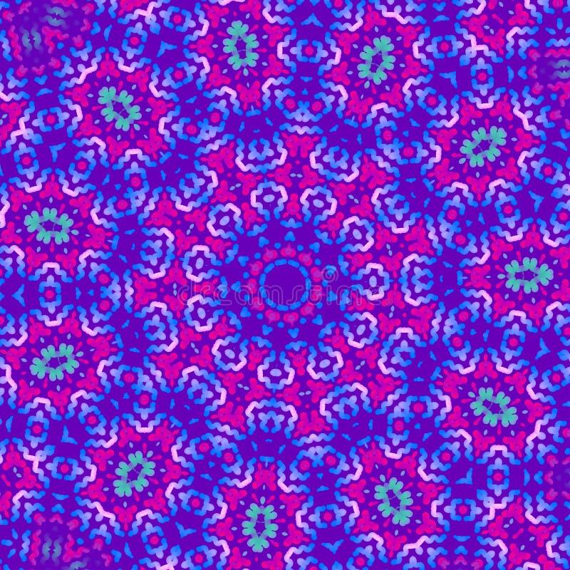 Fond de kal?idoscope Configuration abstraite de fractale illustration pour la m?ditation, transe, hypnose illustration stock