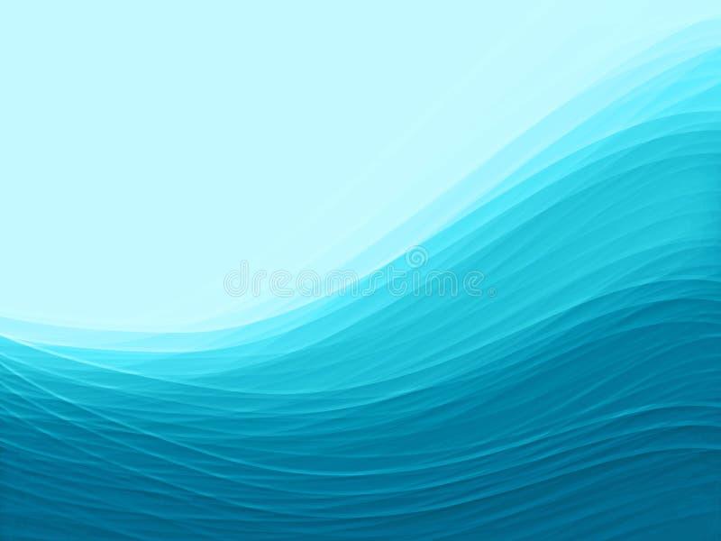 Fond de l'eau bleue illustration de vecteur