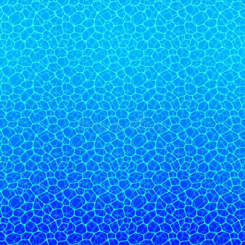 Fond de l'eau Texture aquatique Illustration de vecteur beau papier peint aqueux Été, voyage, marine, contexte de vacances Mer illustration de vecteur