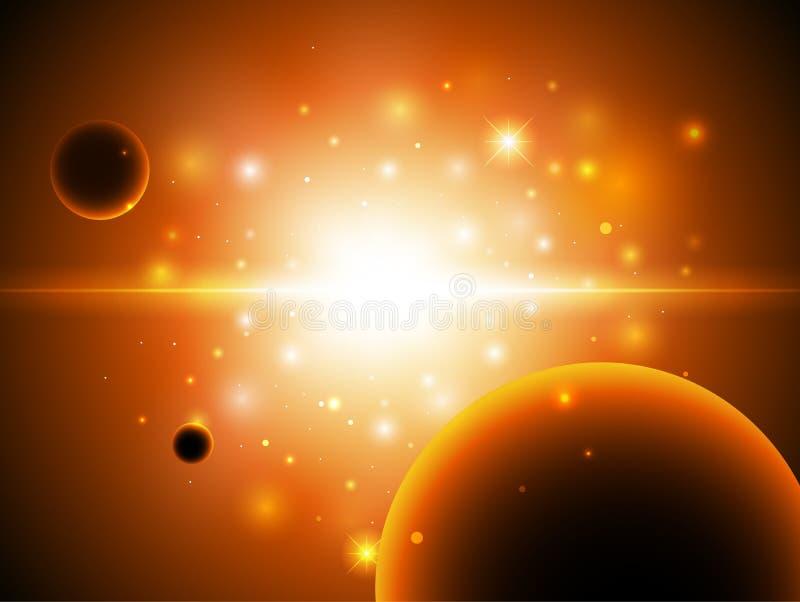 Fond de l'espace avec des étoiles. illustration de vecteur