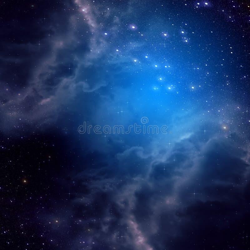 Fond de l'espace de couleur bleue illustration de vecteur
