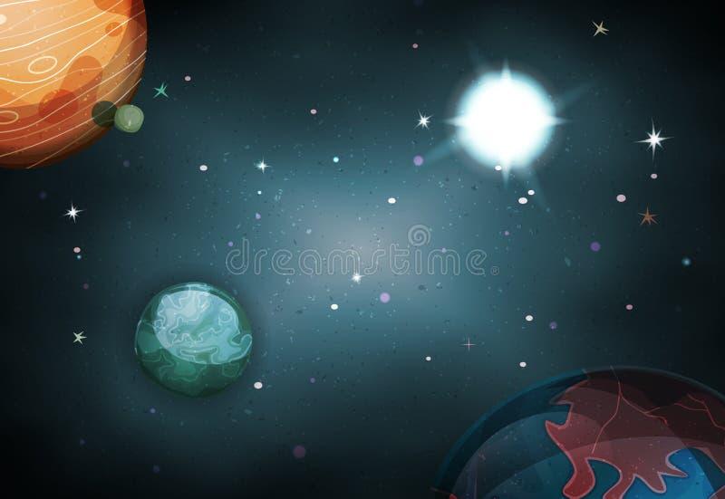Fond de l'espace de Scifi pour le jeu d'Ui illustration stock