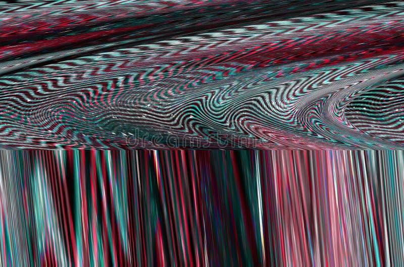 Fond de l'espace de problème Vieille erreur d'écran de TV Conception d'abrégé sur bruit de pixel de Digital Problème de photo Éch illustration de vecteur