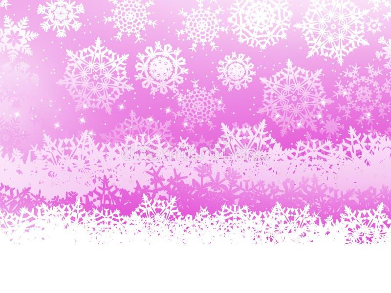 Fond de l'hiver avec des flocons de neige ENV 8 illustration de vecteur