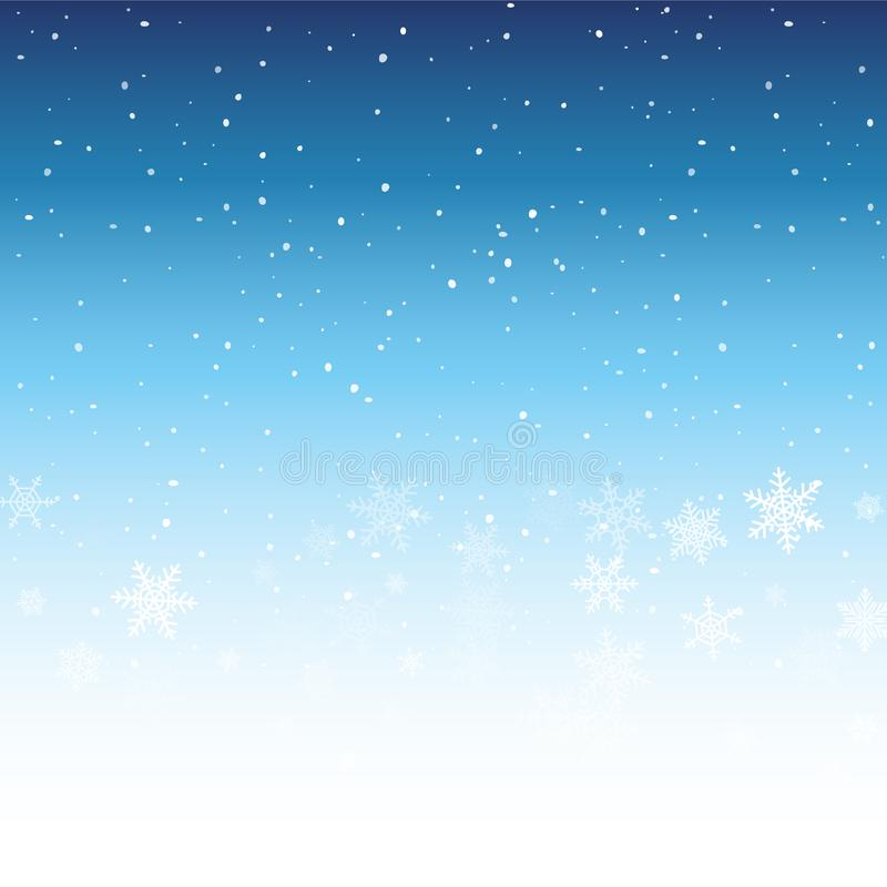 Fond de l'hiver avec des flocons de neige Décoration de vacances de Noël illustration de vecteur