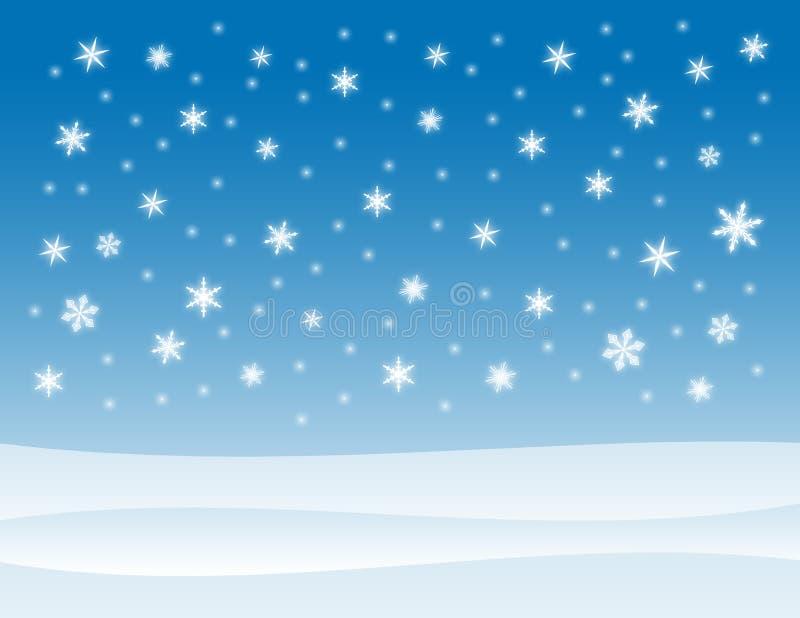 Fond de l'hiver de Milou illustration de vecteur