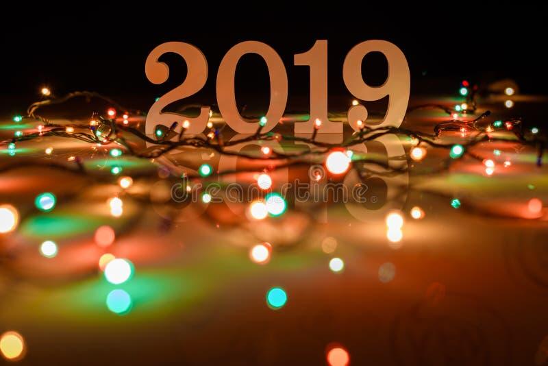Fond de la bonne année 2019, du Noël et de la nouvelle année photo libre de droits