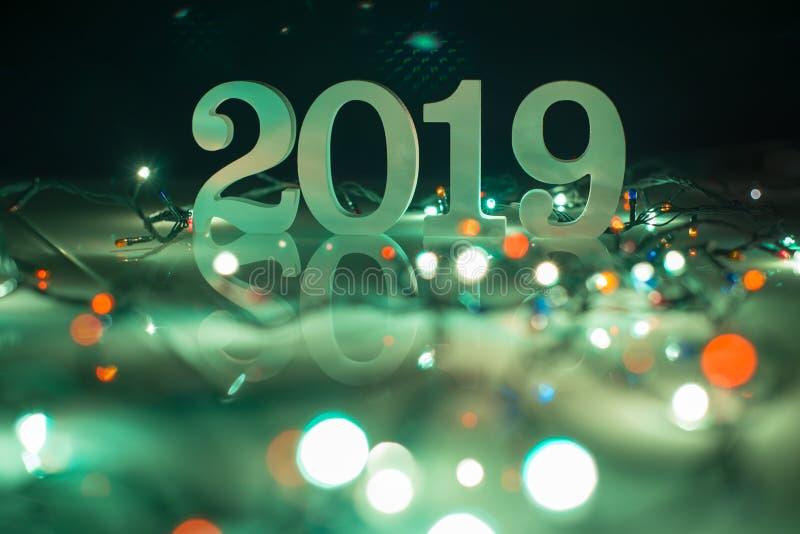 Fond de la bonne année 2019, du Noël et de la nouvelle année photo stock