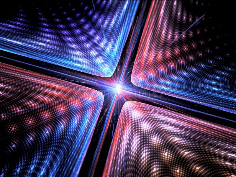 Fond de la mécanique quantique illustration de vecteur