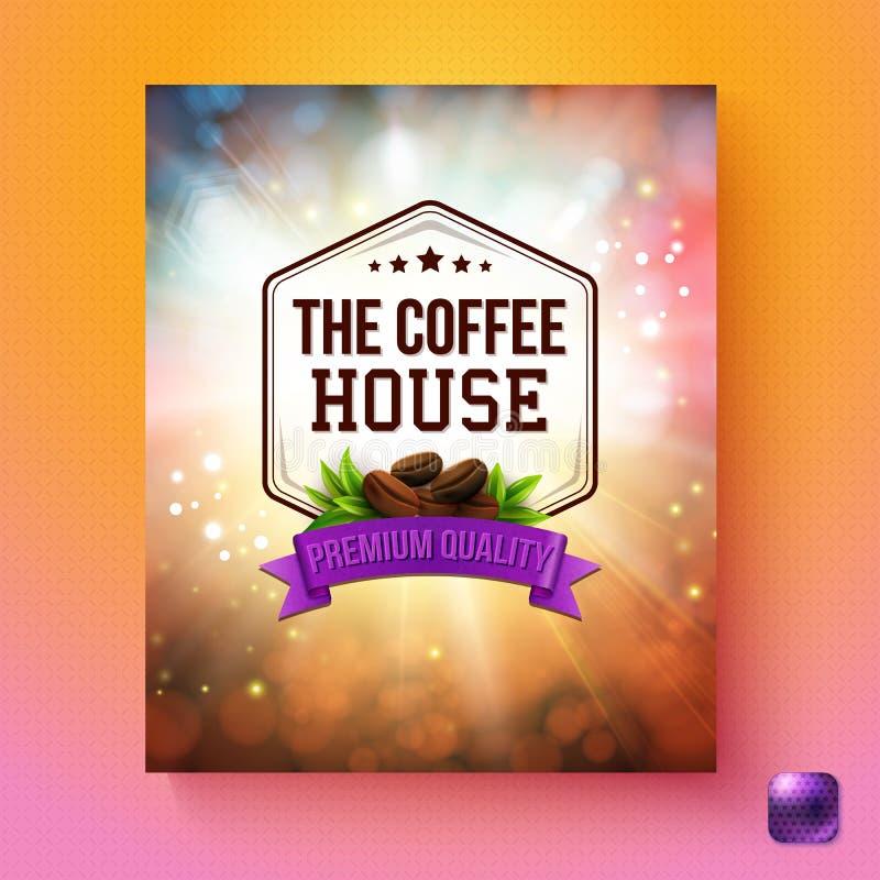 Fond de la meilleure qualité de vecteur de qualité de café avec le bouton illustration stock
