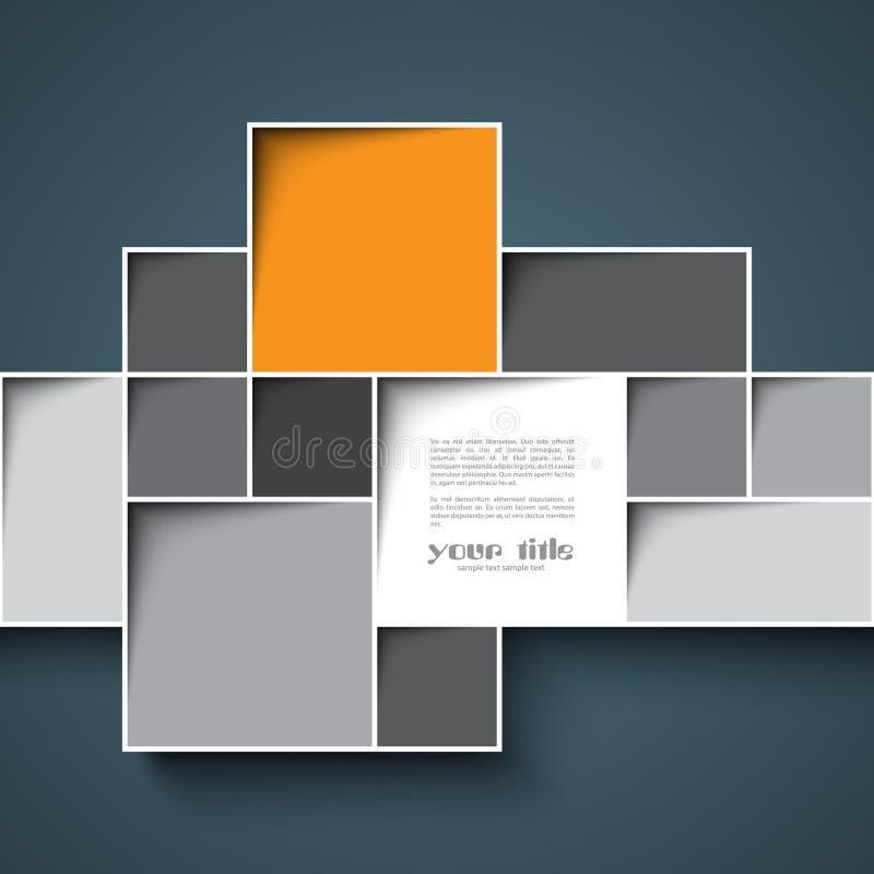 fond de la place 3d illustration stock