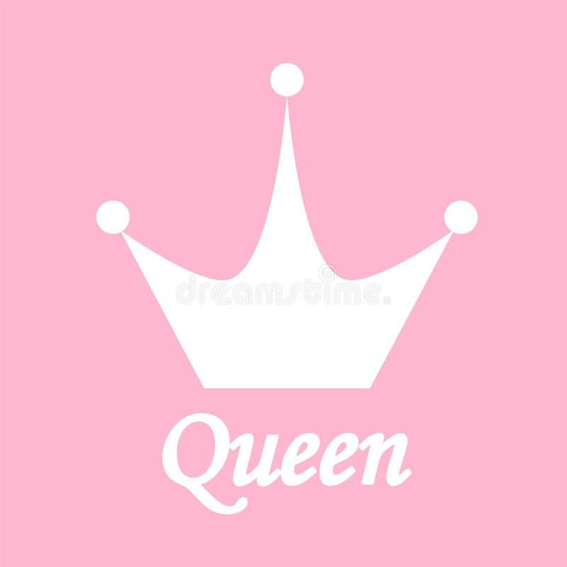Fond de la Reine avec l'illustration de vecteur d'actions de couronne illustration stock