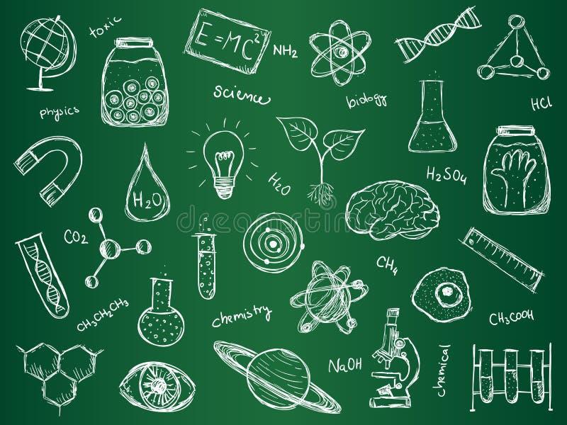 Fond de la Science de chimie illustration libre de droits