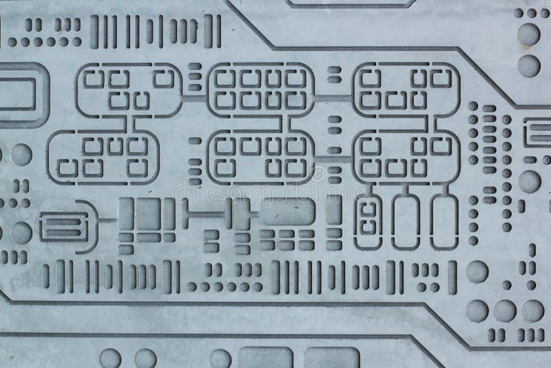 Fond de la science de technologie de mur cimenté par béton de texture photographie stock