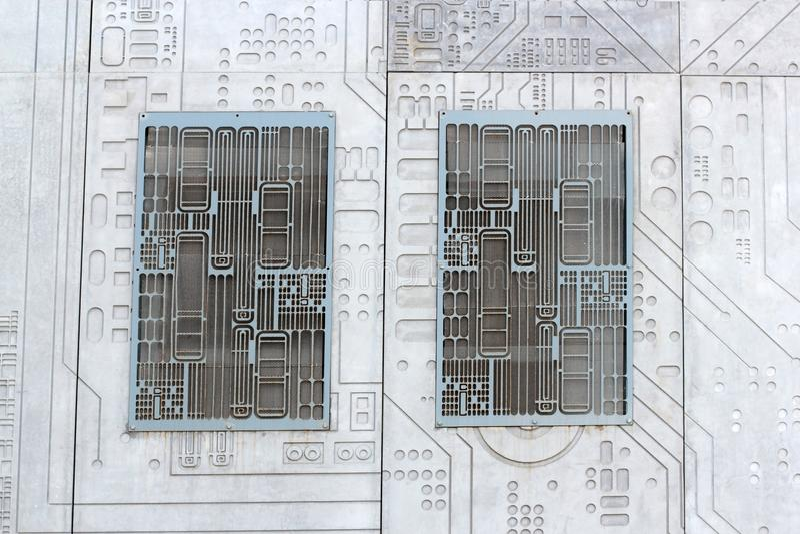 Fond de la science de technologie de mur cimenté par béton de texture photo libre de droits