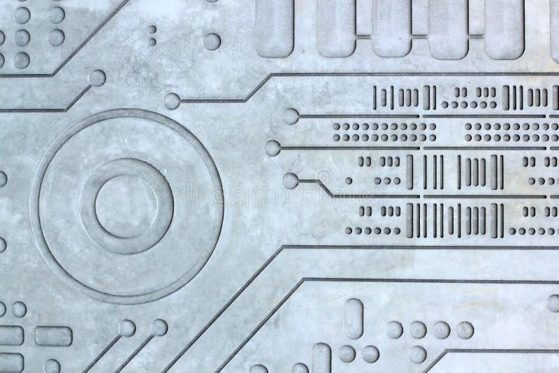 Fond de la science de technologie de mur cimenté par béton de texture image stock