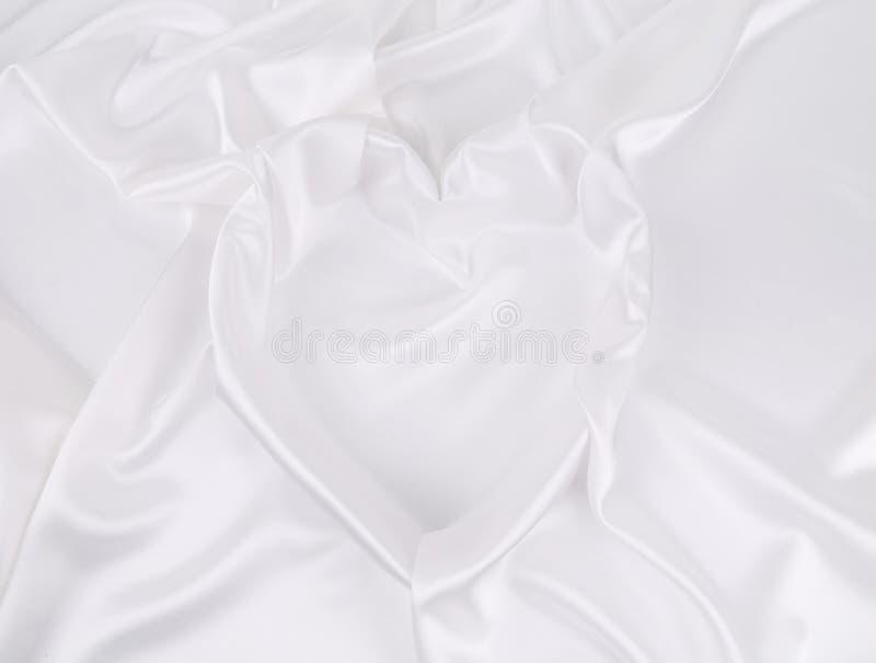 Fond de la soie blanche. photos stock