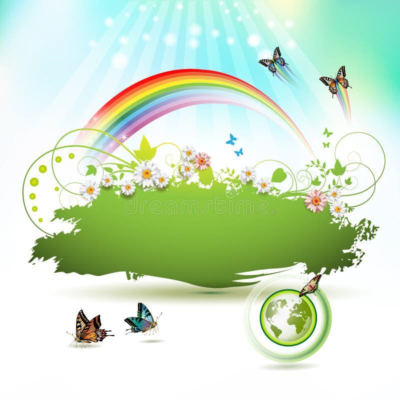 Fond de la terre verte illustration de vecteur