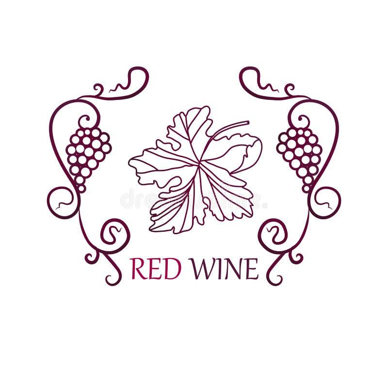 Fond de label de raisins de cuve photo libre de droits