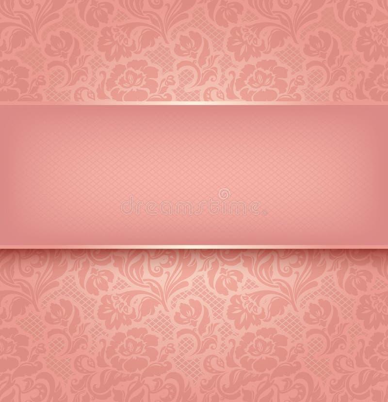 Fond de lacet, rose illustration libre de droits