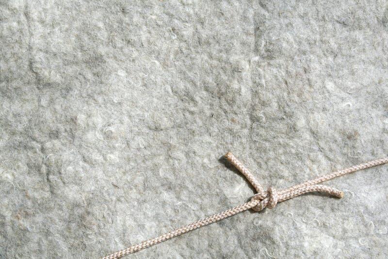 Fond de laines avec la corde images libres de droits