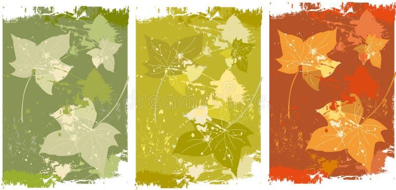 Fond de lames d'automne illustration libre de droits