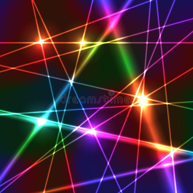 Fond de laser d'arc-en-ciel illustration de vecteur