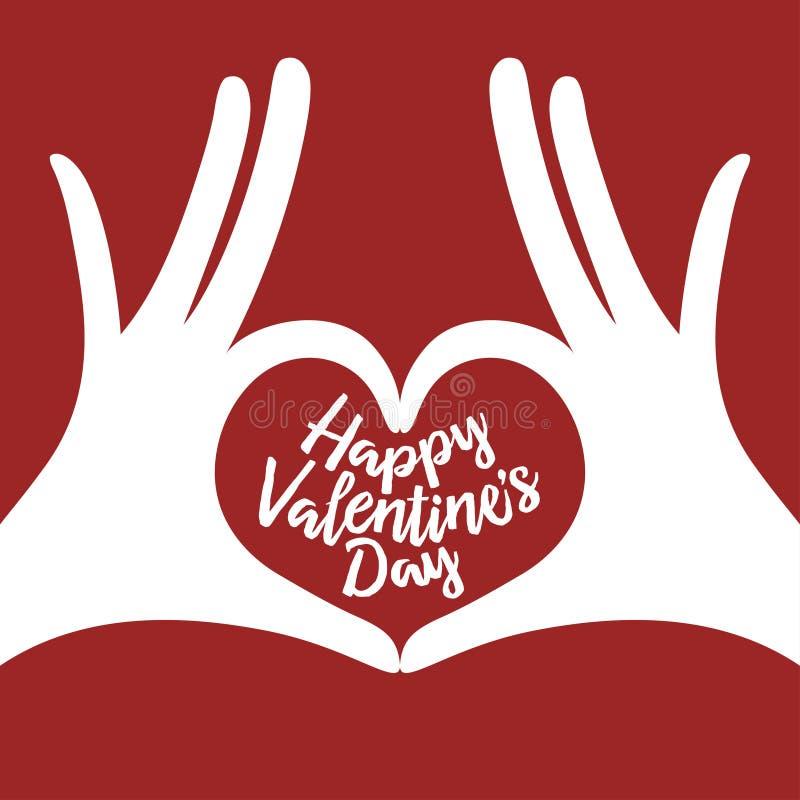 Fond de lettrage de Saint Valentin avec des soumettre illustration de vecteur