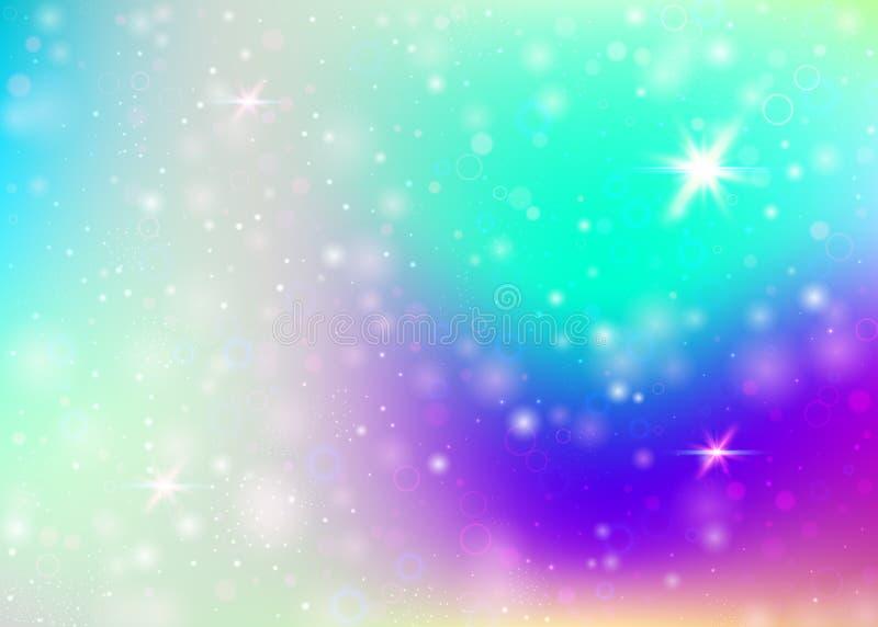 Fond de licorne avec la maille d'arc-en-ciel illustration de vecteur