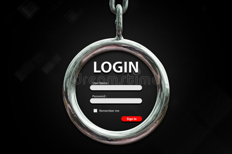 Fond de login image stock