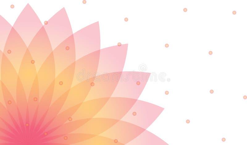 Fond de lotus illustration libre de droits
