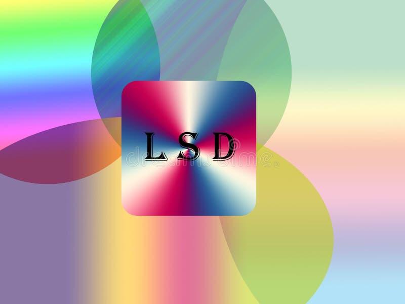 Fond de lsd illustration de vecteur