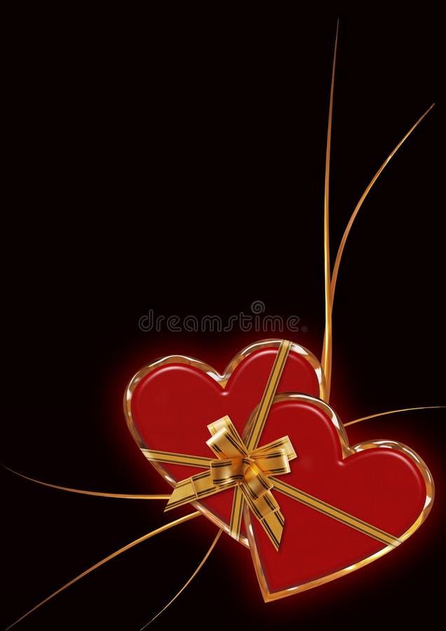 Fond de lueur de Valentine illustration libre de droits