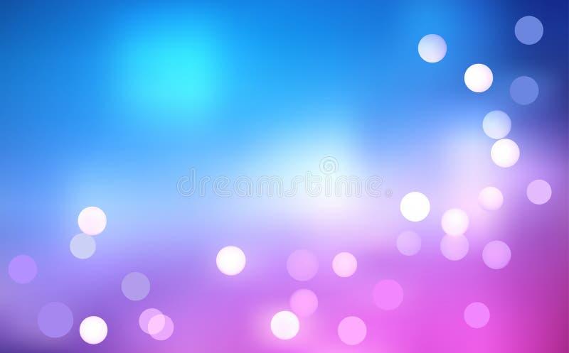 Fond de lumière d'arc-en-ciel de Defocus illustration de vecteur