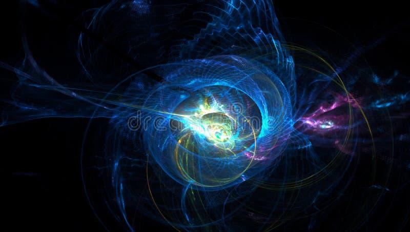 fond de lumière produit par 3D d'abrégé sur fractale illustration libre de droits