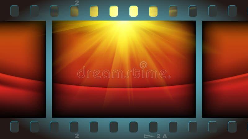 Fond de lumière rouge de film de films illustration libre de droits